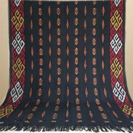 Kain Tenun Blanket Motif toraja hitam 014