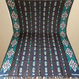 Kain Tenun Blanket Toraja Hitam Hijau